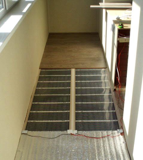 Тёплый пол на балконе своими руками под ламинат 775